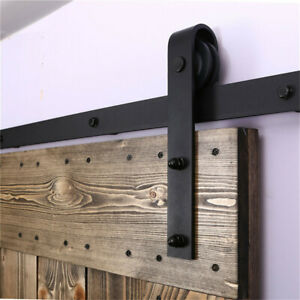Details About 4 20FT Wood Sliding Barn Door Hardware Closet Kit For  Single/Double/Bypass Doors