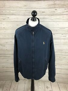Ralph Mens Condition Great Navy Jacket Harrington Large Lauren 4qwr64x