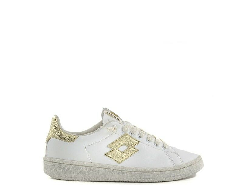shoes lotto known woman bianco gold natural leather s5832