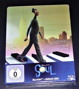 Soul film Disney Edizione Limitata Steelbook Edition DOPPIO BLU RAY NUOVO & OVP