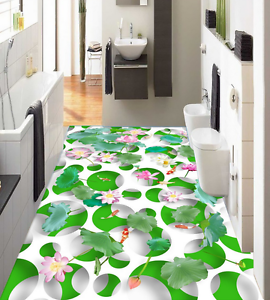 3D Lotus Fruit Pond 742 Floor WallPaper Murals Wall Print Decal AJ WALLPAPER US