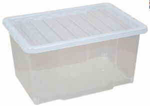 50 LITRE PLASTIC STORAGE BOX - MULTIPACKS - BLACK/CLEAR LID - NEW STRONG BOX  sc 1 st  Kitchen Dining Bar Office Quick Delivery and Free Shipping. & 50 LITRE PLASTIC STORAGE BOX - MULTIPACKS - BLACK/CLEAR LID - NEW ...