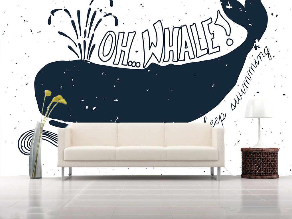 3D Whale Painting 728 Wall Paper Wall Print Decal Wall Deco Wall Indoor Murals