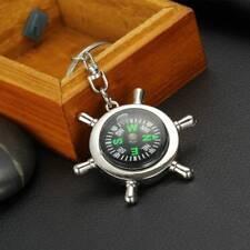 Portable Sport Hike Metal Nautical Men Outdoor Key Ring Compass Fashion Rudder