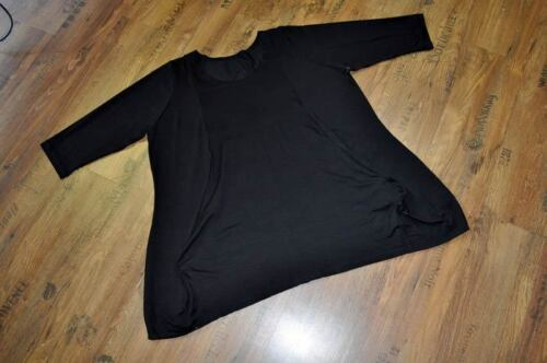 XL Lagenlook BIG-ANGOLI-PALLONCINO SHIRT Soo raffinati BLACK Taglia 1//42,44//L