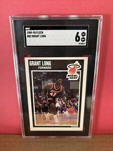 1989-90 Fleer Basketball Grant Long #82 SGC 6 Graded Card Miami Heat RC Rookie