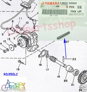 Details about Yamaha YG1 YAS1 AS2 YAS3 RD125 RD200 Oil Pump Dowel Pin on