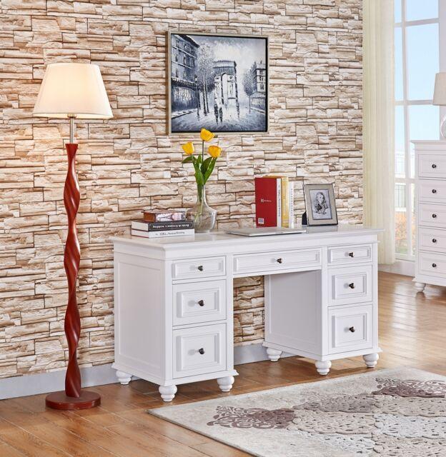 brand new Beata 7 drawers study desk/ computer desk in matt white finish