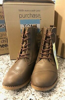 TOMS SHOES Alpa Boot Brown Leather