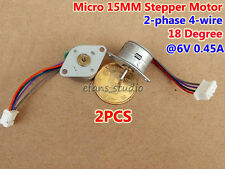 2PCS DC 5V Micro Mini 15MM 2-Phase 4-Wire Stepper Motor Stepping Motor 18 degree