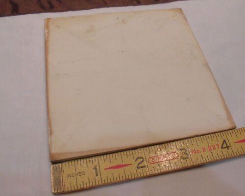 "Vintage Ceramic Tiles *Dark Peach* 4-3//8/"" 4-5//16/"" Robertson Co. 1 pc NOS"