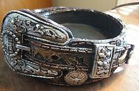 Western Coin Keys Tray Holder Resin Brown Belt Buckle Cowboy/girl Ranch Country