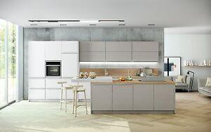 Details zu Schüller Küche Pura in kristallweiß/steingrau matt