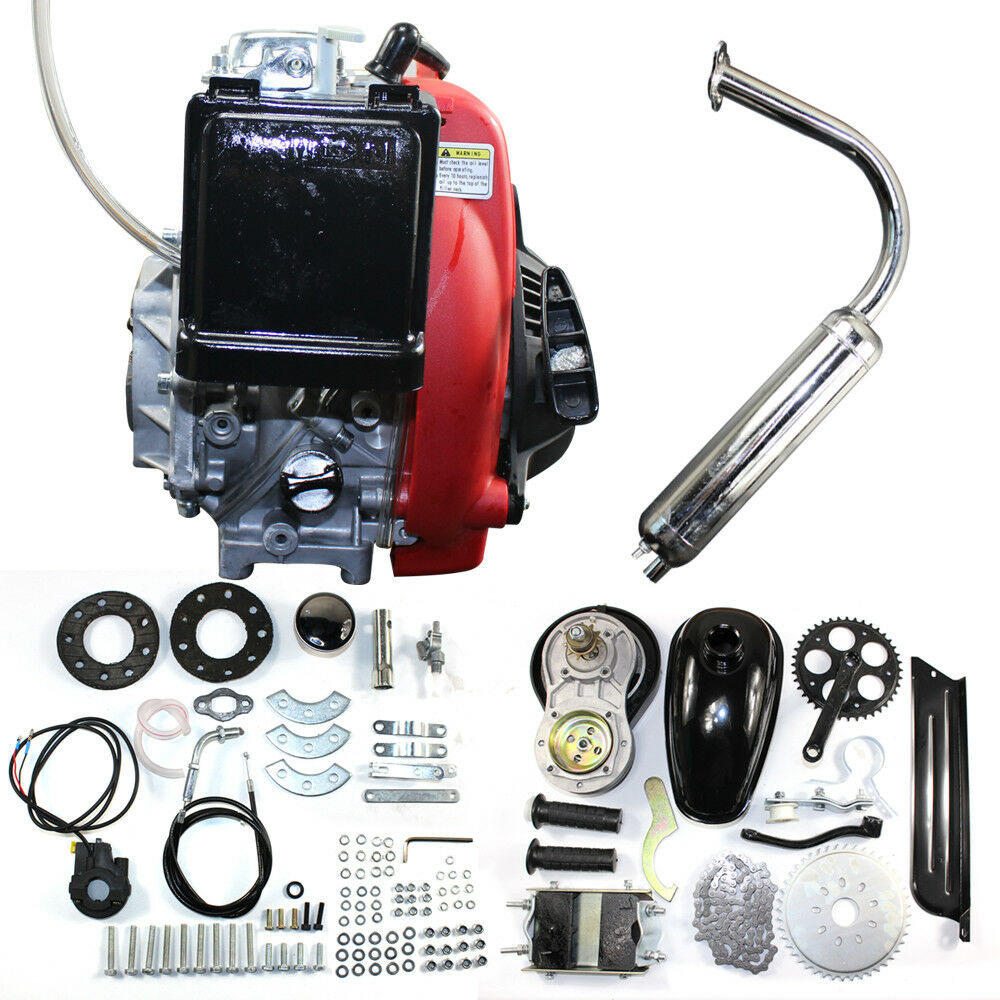 49CC  4-Stroke Gas Petrol Motorized Bicycle Bike Engine Motor Kit Ship from USA  all goods are specials