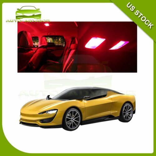 7PCS Super Red Package Kit LED Lights Bulb for Pontiac G6 2005-2010 Top Quality