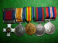 Canadian Miniature Distinguished Service Order Gallantry Medal Group WW1 / WW2