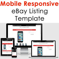 Mobile Responsive EBAY Listing Template Auction Professional No - Ebay item template