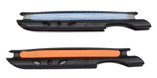 2pcs 12ft Tenkara Mono Furled Leader build-in 2mm Tippet Ring 2 Line Winder#27