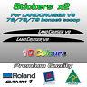 LandCruiser V8 bonnet scoop Decal Sticker for Toyota VDJ 70 76 78 79 series
