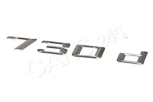 Genuine BMW F01 F01N Trunk Lid 730d Emblem Badge Logo Sign OEM 51147187125