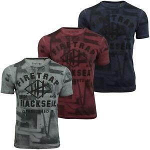 Hombre-Camiseta-de-manga-corta-Firetrap-039-Franconia-039