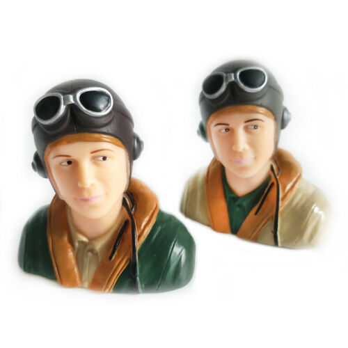 1//9 Scale WWII Pilots Figure L44*W23*H40mm For RC Model Plane Brown //Army Green