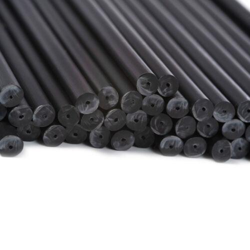 X100 114mm x 4mm Noir Coloré Plastique Sucette Gâteau Pop Bâtons Artisanats