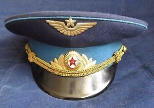 0fd089789 Details about Soviet USSR Russian Visor Hat Officer Aviation Air Force  Airborne SIZE 59