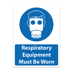 Respiratory Equipment Must Be Worn Safety Sign Made To Gov HSE Requirements