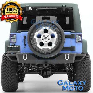 Rock-Crawler-Rear-Bumper-2-034-Hitch-Receiver-fit-07-18-Jeep-JK-Wrangler