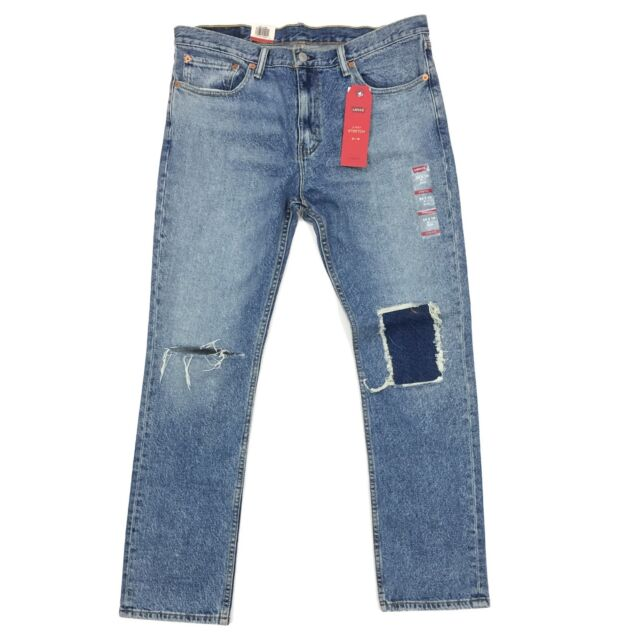 e21d9a5f40e Levis Mens 511 Slim Jeans 2 Way Stretch PATCHED Distressed 32x34 for ...