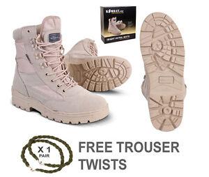 Para Hombre Desierto Combate Del Ejército Militar Bronceado trabajo Gamuza Bota De Cuero libre trouser Giros