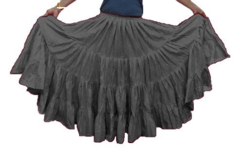 Baumwolle Gypsy Rock 16 Yard 4-Tier-Bauchtanz Tribal Jupe Flamenco
