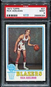 1973-1974-Topps-Basketball-27-RICK-ADELMAN-Portland-Trail-Blazers-PSA-9-MINT