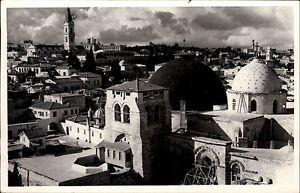 Jerusalem-Israel-alte-Postkarte-1950-60-Teilansicht-showing-the-Holy-Sepulchre