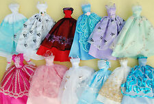 Lots Barbie Doll 5 Clothes & 10 Shoes & 5 hangers = 20 items - Free ship #