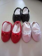 3 PAIR RED, BLACK & WHITE Patent & Mesh SHOES Fits Singin' Chatty FREE SHIPPING