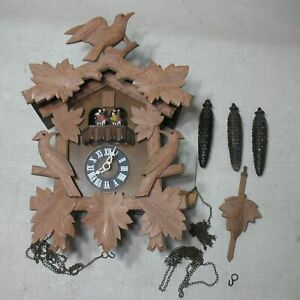 REGULA-25-CUCKOO-CLOCK-MUSICAL-DANCERS-3-WEIGHTS-BLACK-FOREST-GERMANY-PROJECT