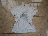 E8824 S. Oliver Print Shirt Kurzarm  Cremeweiss, bunt Motive mit Mängeln