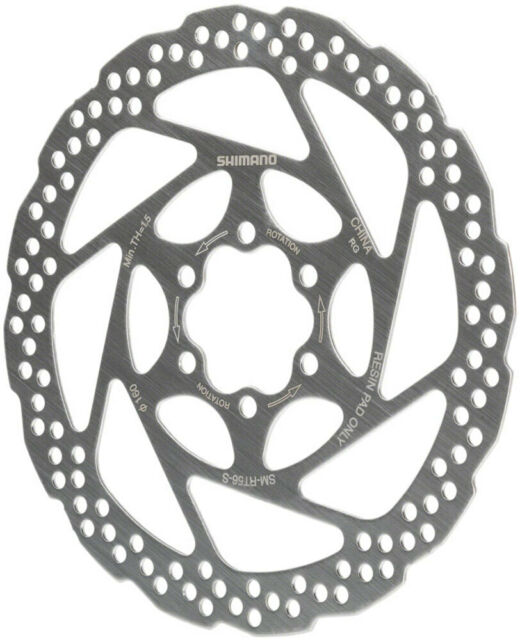 For bike SM-RT56-S Disc Brake Rotors 180mm Mountain Bike 6 Bolts Style Silver
