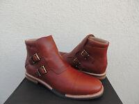 Tsubo Kristofer Aragonite Leather Buckle Ankle Boots, Mens Us 8/ Eur 40.5