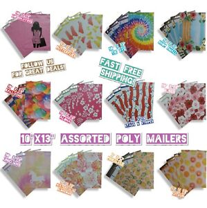 120 Mix Design 10x13 Poly Mailers Variety Pack (10 ea)