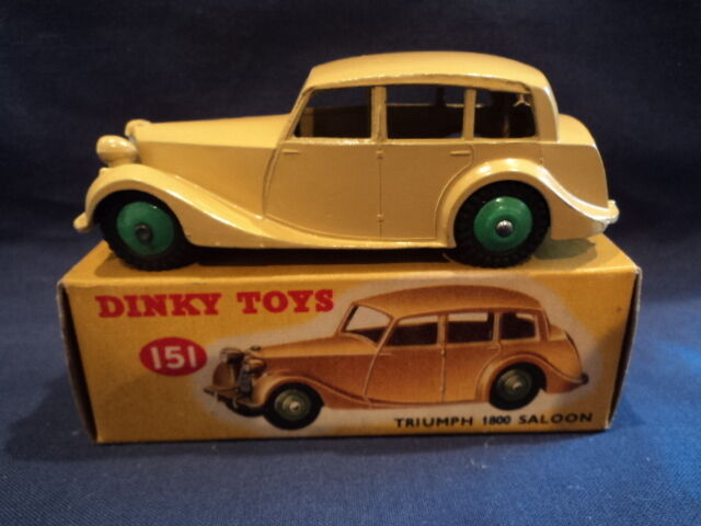 Dinky 1950's Triumph 1800 Saloon No 151 MINT Ex Shop Stock