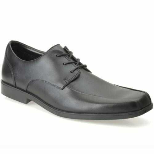 Clarks HOXTON CHAP Older Boys Mens Lace Black Leather School Shoes 3-6 E,F,G,H