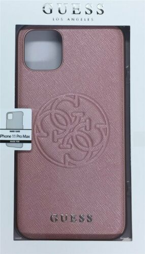phone 11 Pro Max Pink Guess estuche duro silicona safiano 4g Circle F