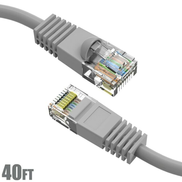 Snagless//Molded Boot Offex Cat5e White Ethernet Patch Cable 1 foot