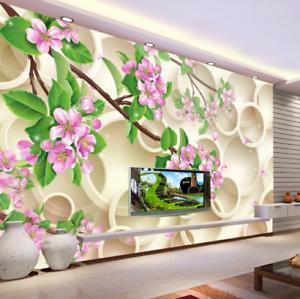 3D Ring Flowers Tree 7 Wall Paper Murals Wall Print Wall Wallpaper Mural AU Kyra