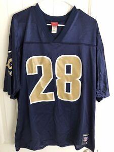 01bc5eb99 Vintage Reebok Marshall Faulk Jersey Size Large St. Louis Rams  28 ...