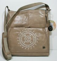 The Sak Iris Crossbody Bag Shiitake Whipstitch Leather Handbag Purse 104118