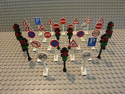 Schild Strassen Ampel Lego® 6 Verkehrsschilder L271 Schilder 4 Ampeln